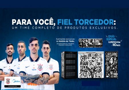 110 anos do Corinthians: em comemoração Midea lança edição especial de produtos