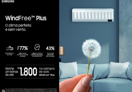 Samsung oferece  bônus de até R$ 1.800,00 na compra de combos com AC WindFree Plus
