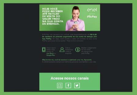Enel SP e PicPay firmam parceria para pagamento de conta de luz com cashback