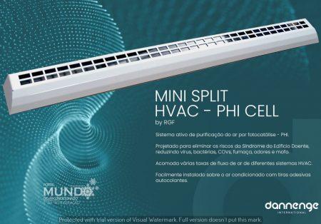 Dannenge lança Mini Split PHI Cell, que promete desinfecção em ambientes climatizados