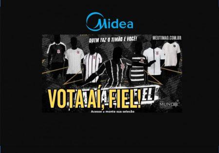 111 anos do Timão: com apoio da patrocinadora Midea, Corinthians abre votação para Calçada da Fiel