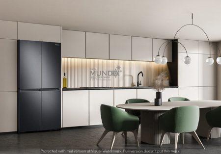 RF59A a nova geladeira da Samsung, que traz design elegante e jarra com enchimento automático.